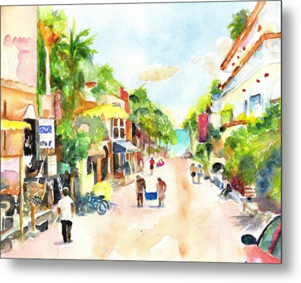Playa Del Carmen Mexico Shops Metal Print
