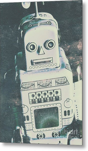 Playback The Antique Robot Metal Print