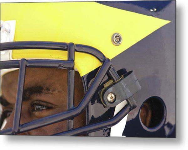 Player In Winged Helmet Metal Print