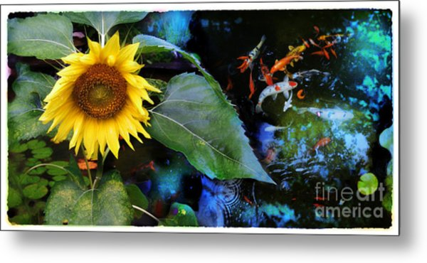 Playful Summer Nights Metal Print by Gina Signore