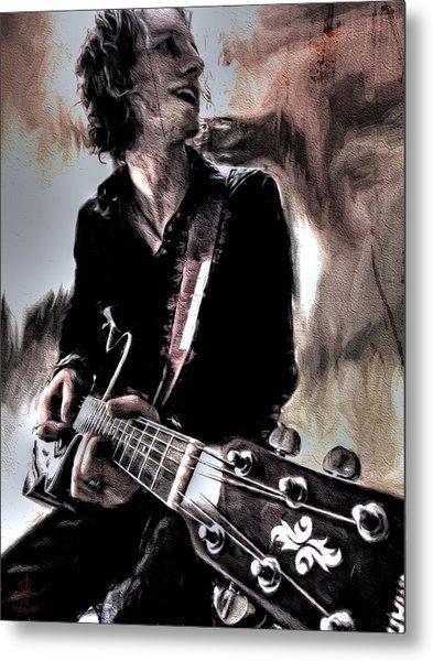 Playin' Grunge Metal Print