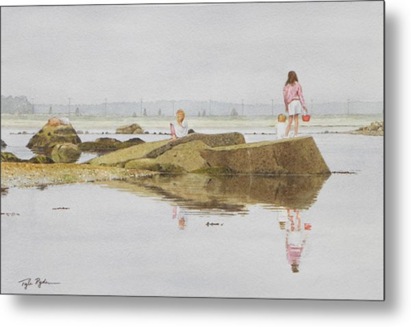 On Crab Rock Metal Print
