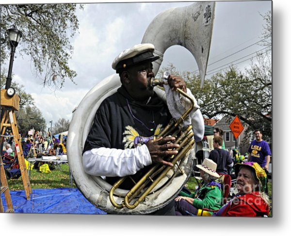 Playing To The Crowd Metal Print
