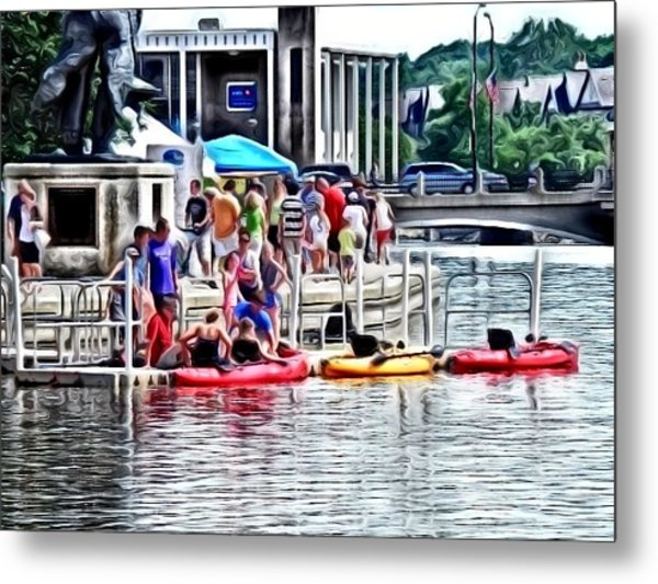 Playtime On The River Metal Print