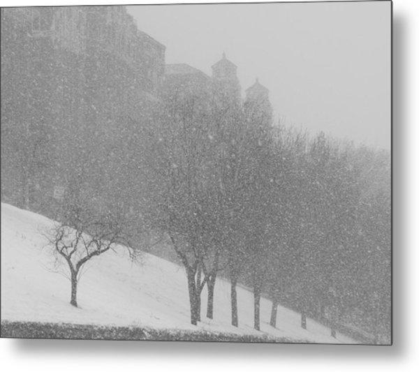 Plaza Impressionism With Kc Snow Metal Print