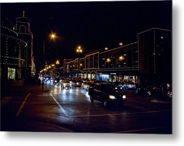Plaza Lights Metal Print