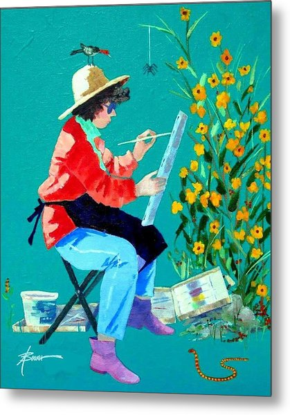 Plein Air Painter  Metal Print