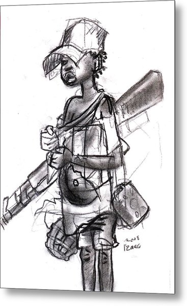Plight Of A Child Soldier Metal Print by Okwir Isaac