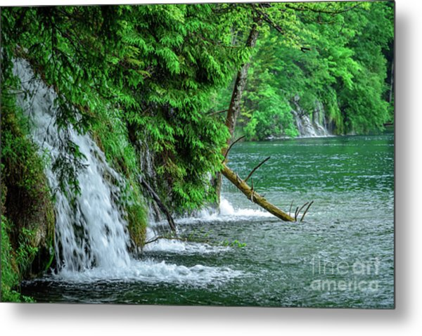 Plitvice Lakes National Park, Croatia - The Intersection Of Upper And Lower Lakes Metal Print