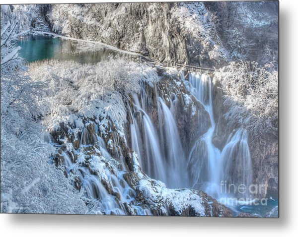 Plitvice Winter Metal Print