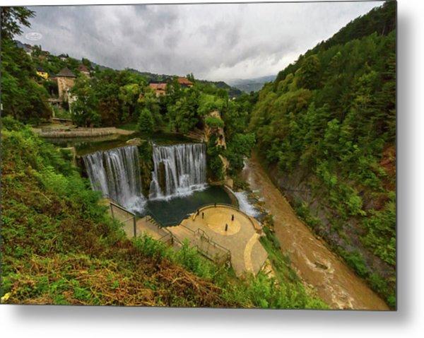 Pliva Waterfall, Jajce, Bosnia And Herzegovina Metal Print