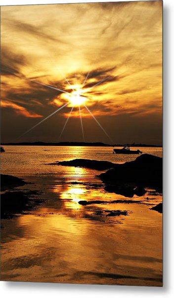 Plum Cove Beach Sunset E Metal Print