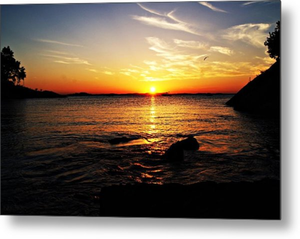 Plum Cove Beach Sunset G Metal Print