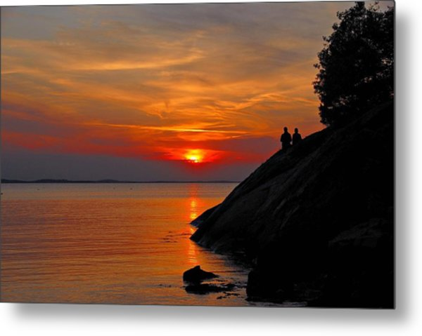 Plum Cove Sunset Metal Print