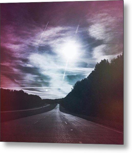 Plum Horizons #hwytravels Metal Print