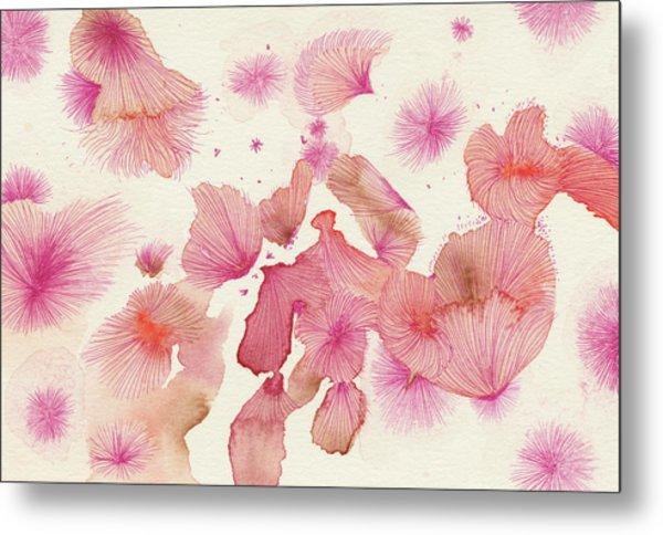 Plum Trees - #ss16dw017 Metal Print by Satomi Sugimoto