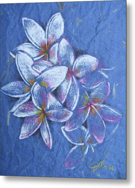 Plumeria Metal Print by Jennifer Bonset