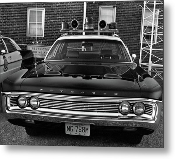 Plymouth Police Car Metal Print