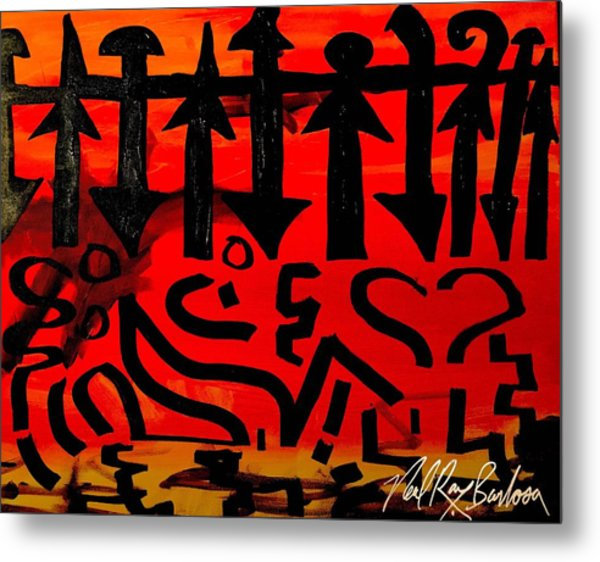 Pmurt Abstract  Metal Print