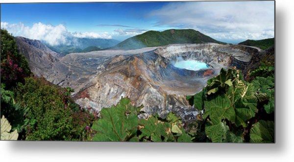 Poas Volcano Metal Print by Kryssia Campos
