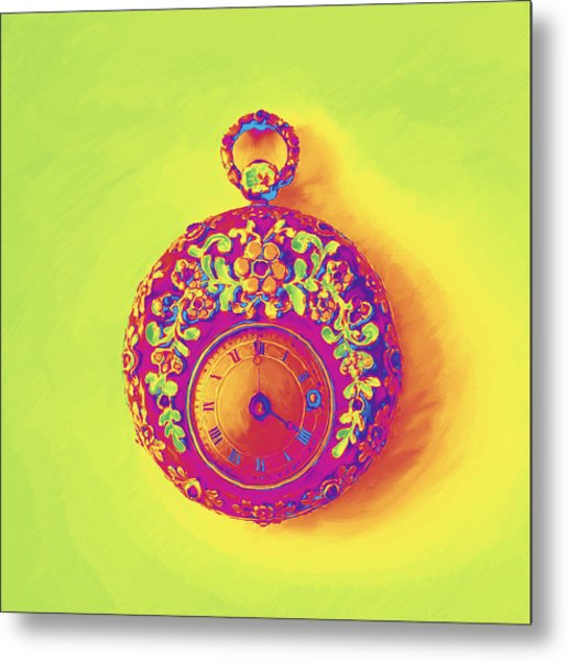 Pocket Watch 1830 Metal Print
