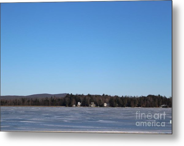 Poconos, The Lake In January Metal Print