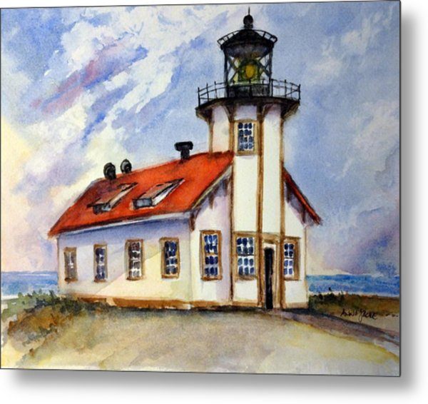 Point Cabrillo Light Station - Fort Bragg Metal Print