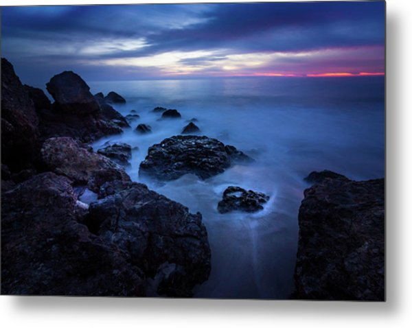 Point Dume Rock Formations Metal Print