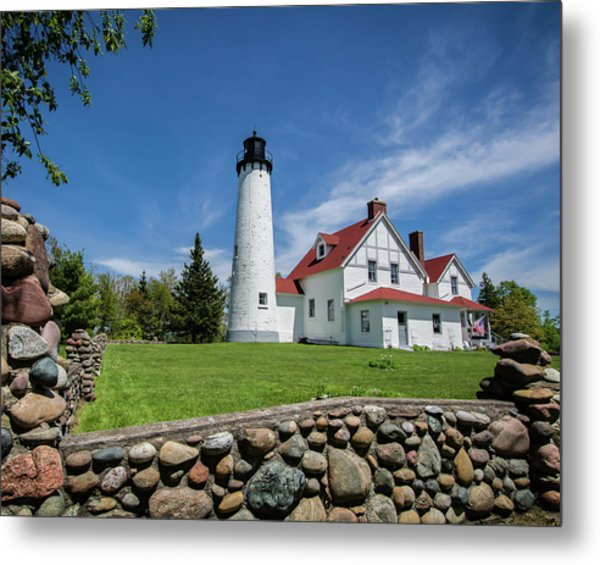 Point Iroquois Light Station Metal Print