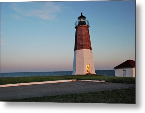 Point Judith Lighthouse Rhode Island Metal Print
