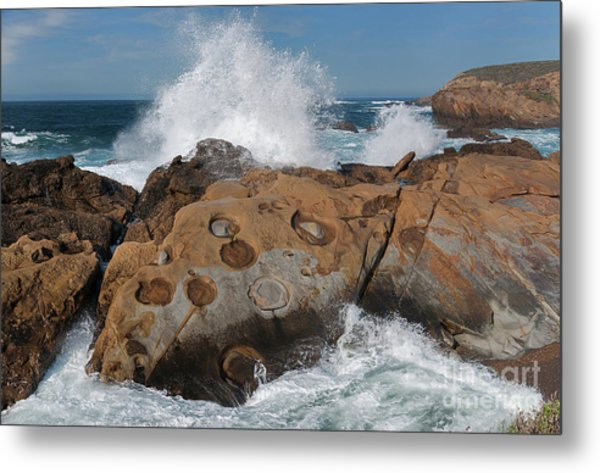 Point Lobos' Concretions Metal Print