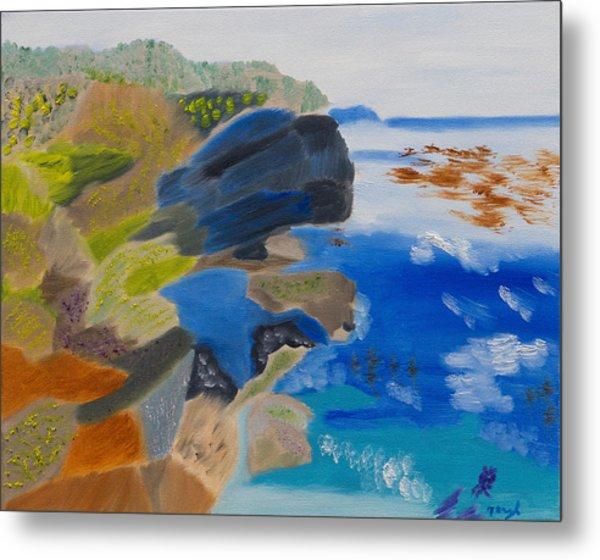 Cliffs Of Point Lobos Ca Metal Print