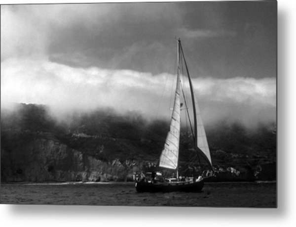 Point Loma Fog Metal Print