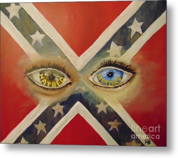 Metal Print featuring the painting Point Of View by Saundra Johnson