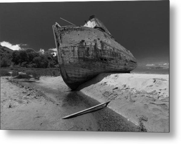 Point Reyes Boat Metal Print