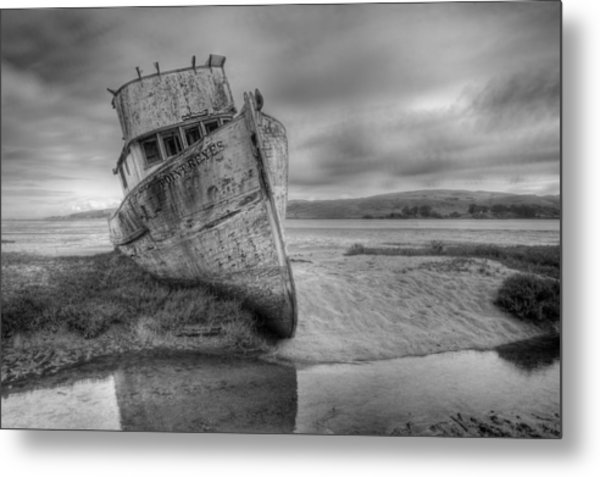 Point Reyes Bw Metal Print