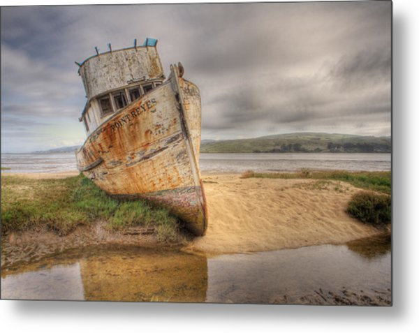 Point Reyes In The Sand Metal Print