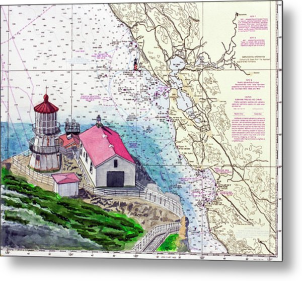 Point Reyes Light Station Metal Print