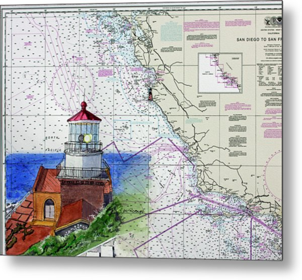 Point Sur Light Station Metal Print