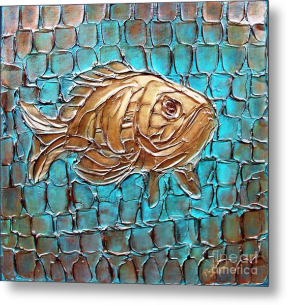 Metal Print featuring the painting Poisson D'ore by Phyllis Howard