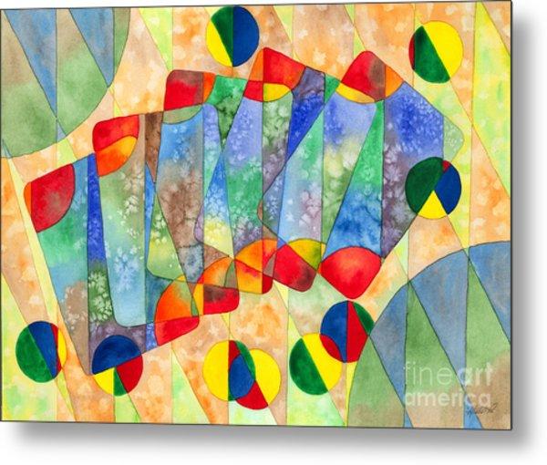Poker Abstract Watercolor Metal Print