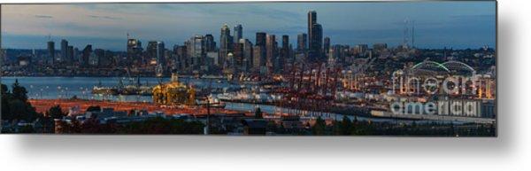 Polar Pioneer Docked In Seattle Metal Print
