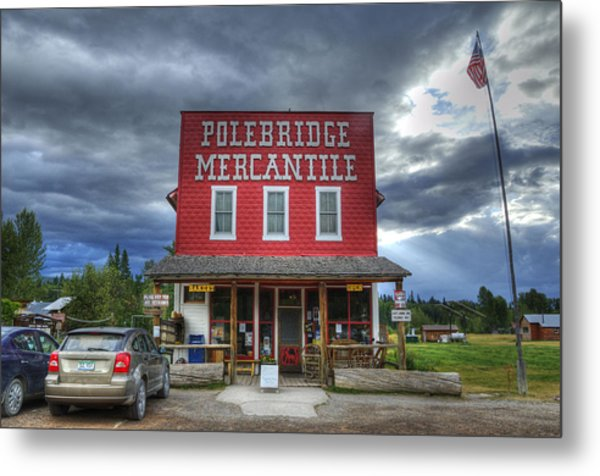 Polebridge Mercantile Metal Print