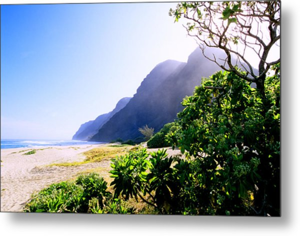 Polihale Morning Metal Print by Kevin Smith
