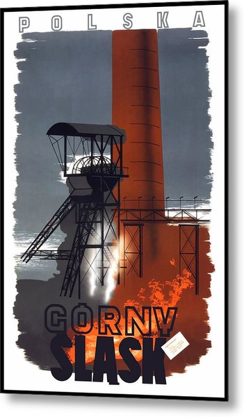 Polska - Gorny Slask - Poland - Retro Travel Poster - Vintage Poster Metal Print