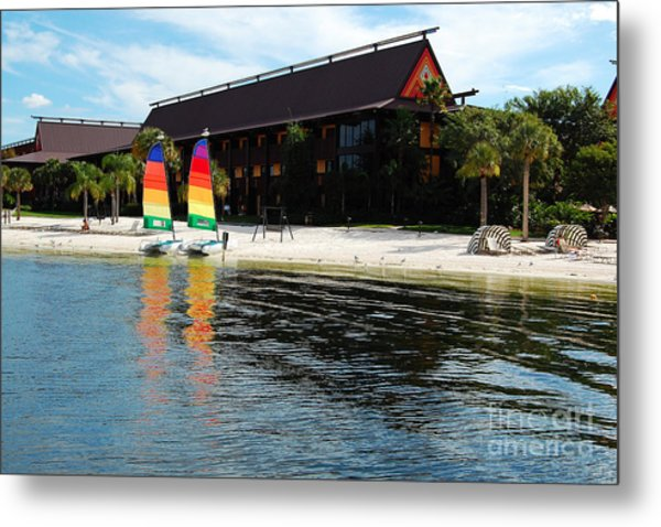 Polynesian Resort Beach Walt Disney World Prints Metal Print