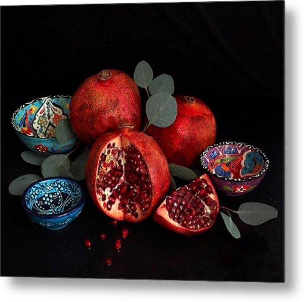 Pomegranate Power Metal Print