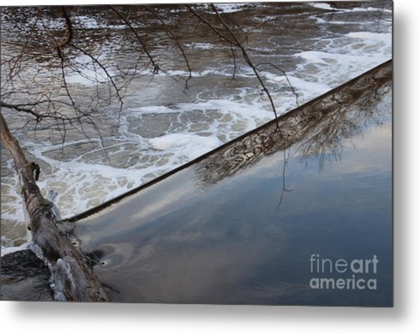 Pompton Spillway From Above Metal Print