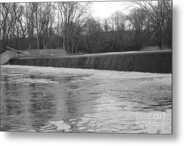 Pompton Spillway In January Metal Print