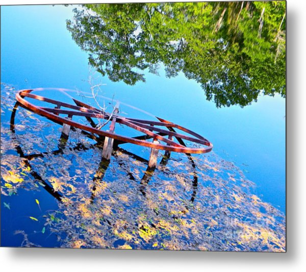 Pond Wheel Metal Print by Chuck Taylor